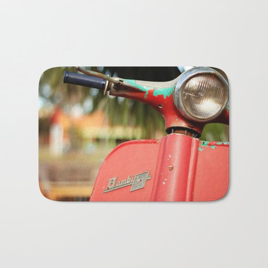 The old scooter - Bambi Bath Mat