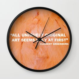 Issues with Clement Greenberg Wall Clock