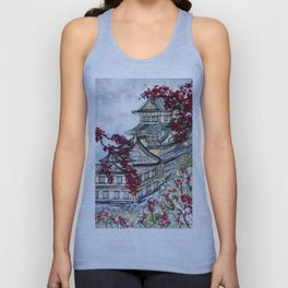 Japanese Castle Unisex Tank Top