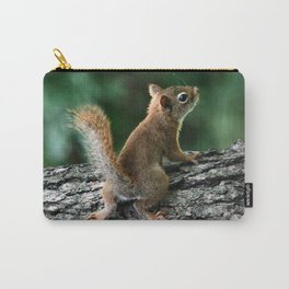 Young Red: Juvenile Red Squirrel Carry-All Pouch