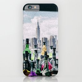 Aperitifs in New York Landscape Painting iPhone Case