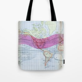 1873 Gilpin Map of the World Tote Bag