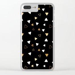 Multi Triangles - Black Clear iPhone Case