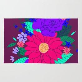 Floral Garden - Plum Rug
