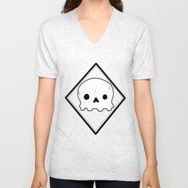Non-threatening Skull Unisex V-Neck
