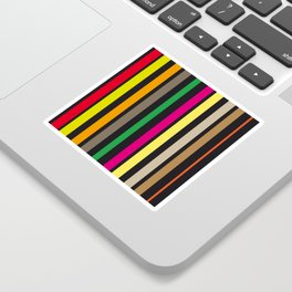 bold stripes and color Sticker
