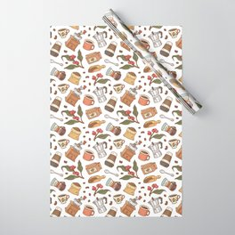 Coffee Break Pattern  Wrapping Paper