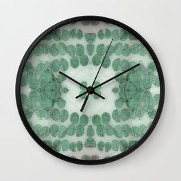 Sea Shell Disco Teal Wall Clock