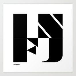 Type Type for INFJ Art Print