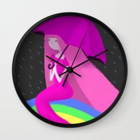 princess bubblegum Wall Clocks featuring Princess Bubblegum by theconsy