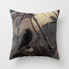 El Paraguas Throw Pillow