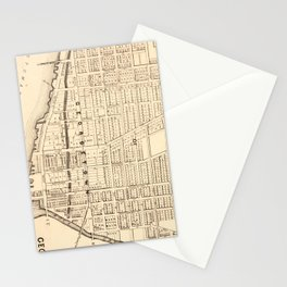 Vintage Map of Georgetown (Washington D.C.) 1876 Stationery Cards