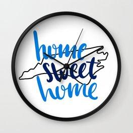 Home Sweet Home North Carolina Wall Clock