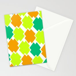 GRAPHIC SQUARES Stationery Cards