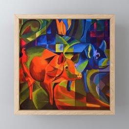 The Pigs by Franz Marc Framed Mini Art Print
