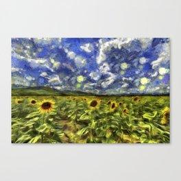 Summer Sunflowers Van Gogh Canvas Print