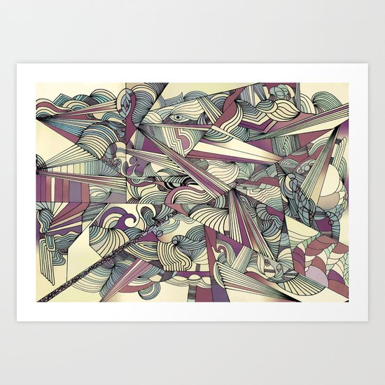 When my Mind Goes Boom. Art Print