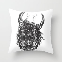 Coleoptera Throw Pillow
