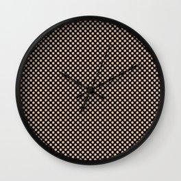 Black and Desert Dust Polka Dots Wall Clock