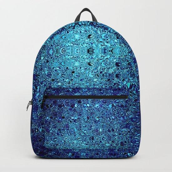 Deep blue glass mosaic by danadudesign