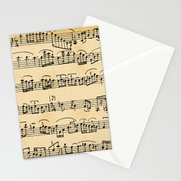 Antique Music Notes Stationery Cards