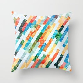 Succulent and Brick Abstract Patterns Throw Pillow