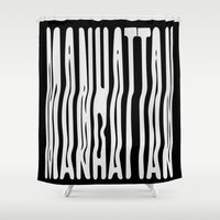 manhattan Shower Curtains featuring Manhattan by Hoods