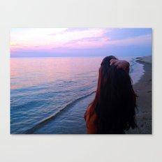 Looking out into the far far seas  Canvas Print
