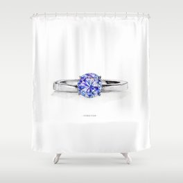 RING。FOREVER Shower Curtain