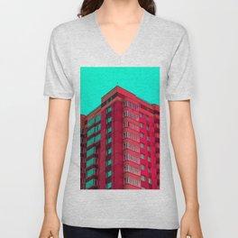 The Red Building Unisex V-Neck