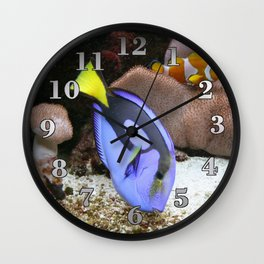 Coral Reef and Fish Wall Clock