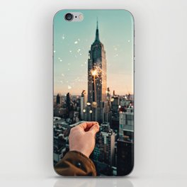 Sparks on New York iPhone Skin