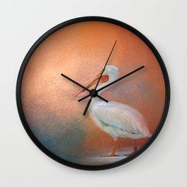 Pelican Walk Wall Clock