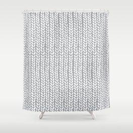 Knit Wave Grey Shower Curtain