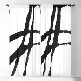 0523: a simple, bold, abstract piece in black and white by Alyssa Hamilton Art Blackout Curtain