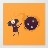 katamari Canvas Prints featuring Katamari of the Dead by Hector Mansilla