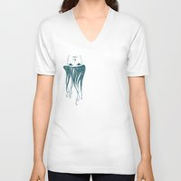 swim V-neck T-shirts featuring swim by Aleksandra Salevic