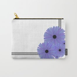 Purple Daisy Corner Carry-All Pouch
