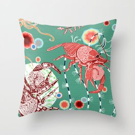 Crusty Crab Throw Pillow