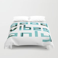 good vibes only // Punta Cana Duvet Cover