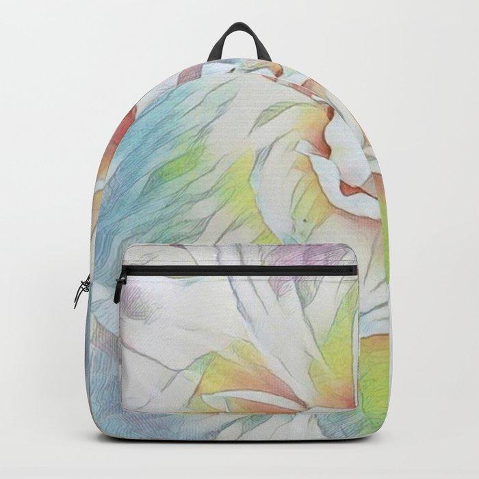 Soft Pastel Floral Expression Backpack