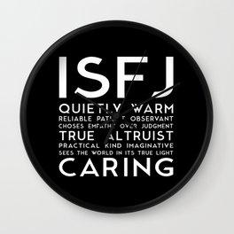 ISFJ (black version) Wall Clock
