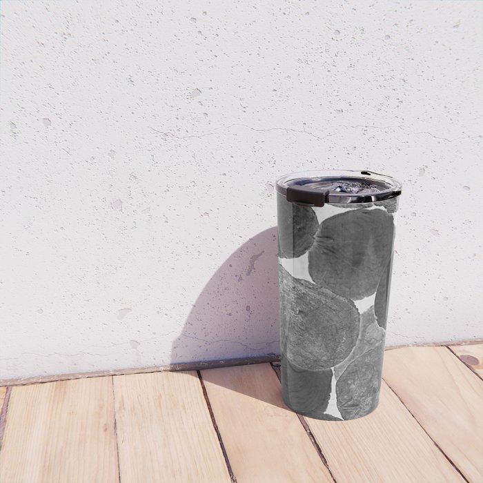 Abstract Gray Travel Mug