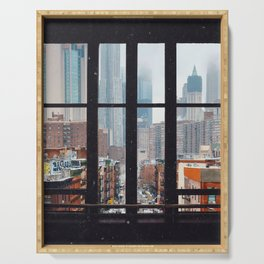 New York City Window Serving Tray