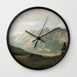 Rocky Mountains Photography Print Wall Clock