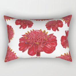 Floral Theme- Ginger Lily Watercolor Illustration Rectangular Pillow
