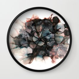 alcohol ink - pitch black 2 Wall Clock