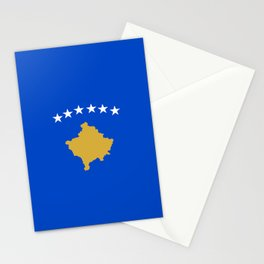Kosovo country flag Stationery Cards