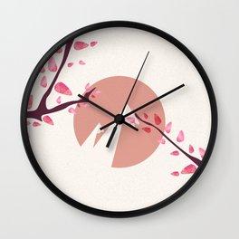 Mount Fuji Japan Sakura Tree Cherry Blossom Wall Clock