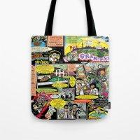 canada Tote Bags featuring Vivita Spa KOMIX #1 by Tex Watt